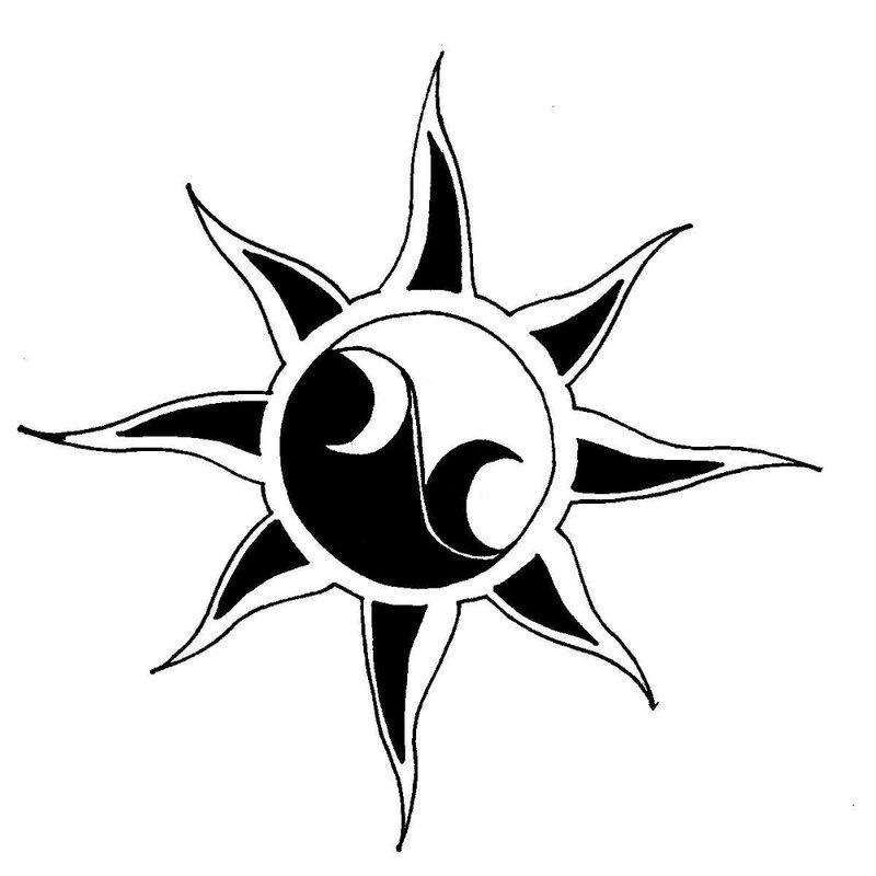 Žvaigždės temos tatuiruotės eskizas