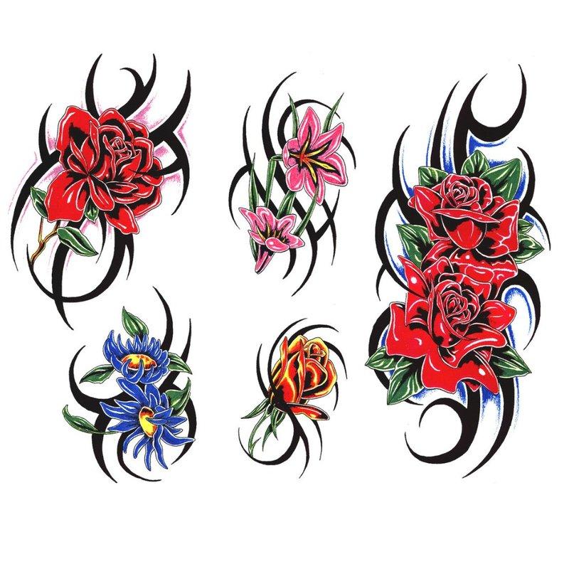 Mažų rožių tatuiruotė
