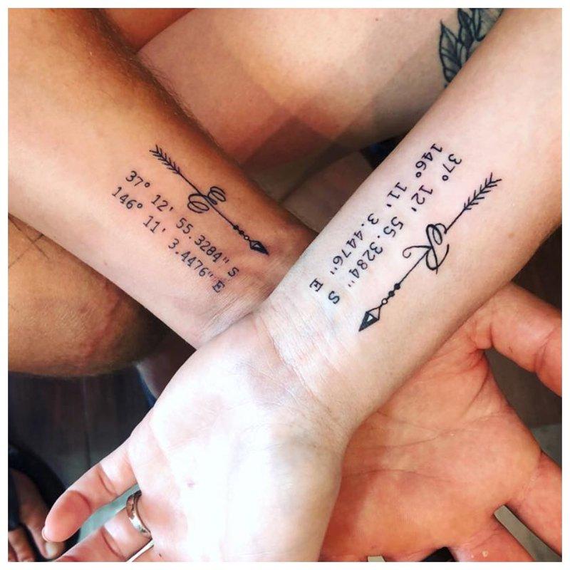 Originalus tatuiruotės užrašas ant riešo užrašo pavidalu