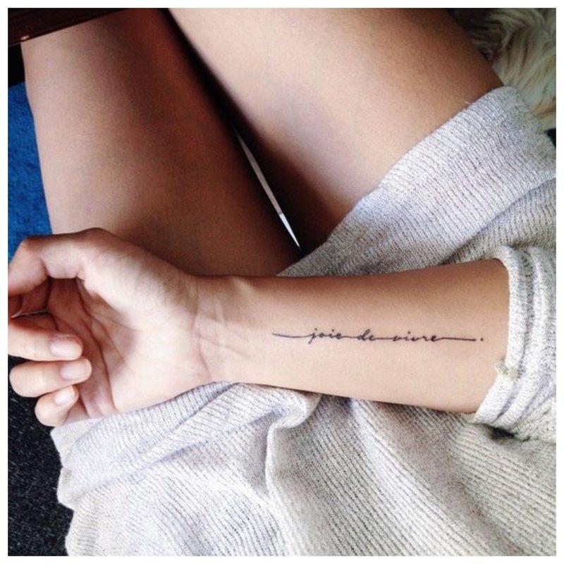 Tatuiruotė rankomis
