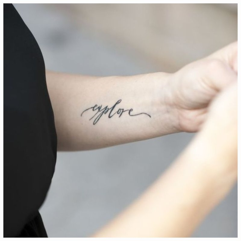Švelnus tatuiruotė ant rankos