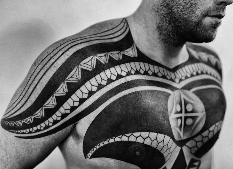 """""""Blackwork"""" tatuiruotė"""