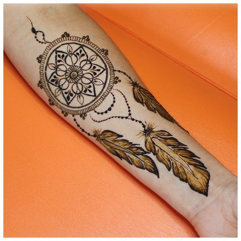 """Mehendi Tattoo Dreamcatcher"""