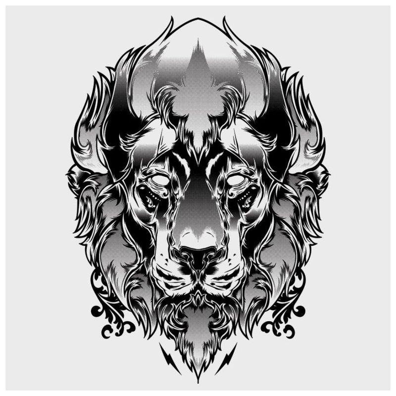 Predator Sketch voor Tattoo