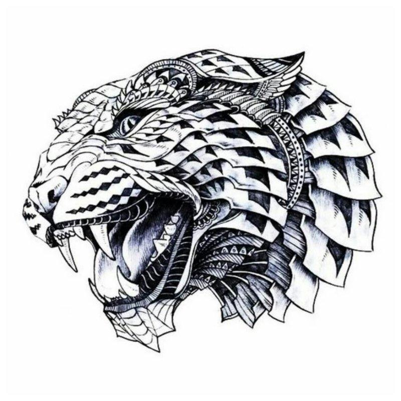 Roofdiergrijns - schets voor tattoo