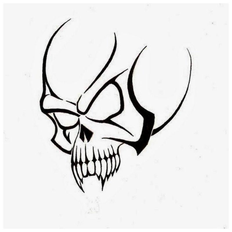 Schedel - schets voor tattoo