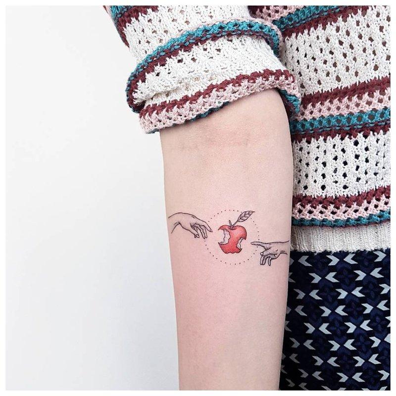 Minimalizmo tatuiruotės technika