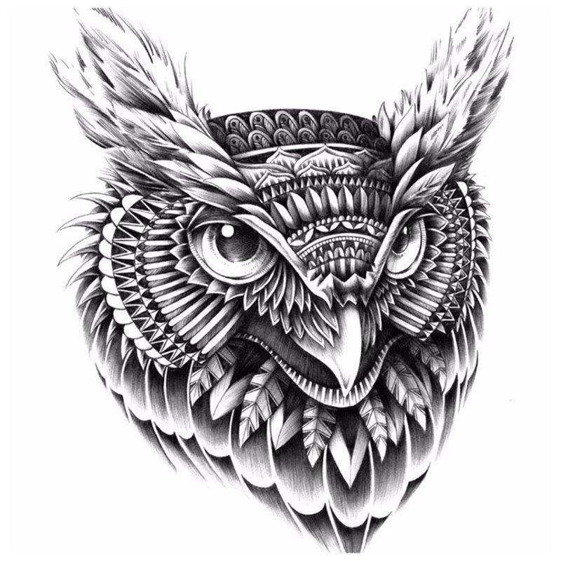 Vogel schets voor tattoo